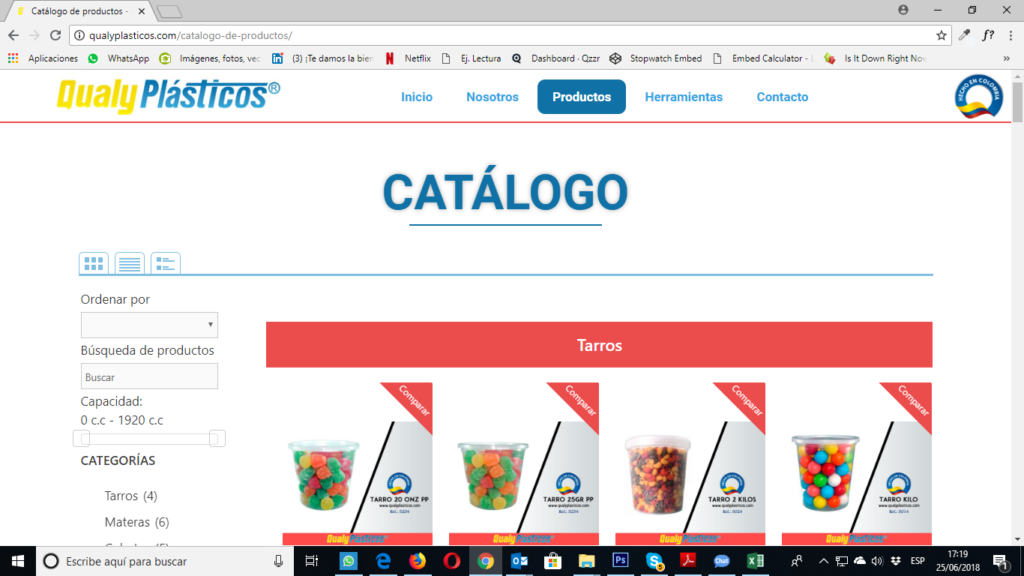 Tu Marketing Bogotá - Qualyplasticos home page