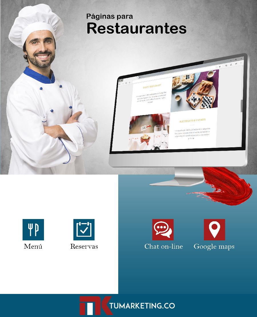 Tu Marketing Bogotá - Diseño de páginas web para restaurantes en Bogotá