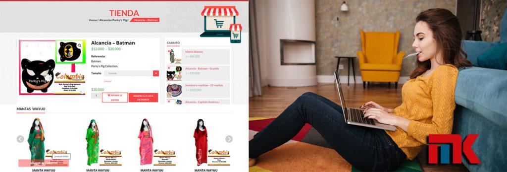 Tu Marketing Bogotá - Diseño de página con tienda virtual o catálogo web en Bogotá
