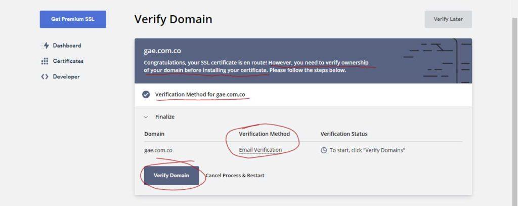 Tu Marketing Bogotá - Cómo obtener un certificado SSL gratis para tu hosting en GoDaddy 10