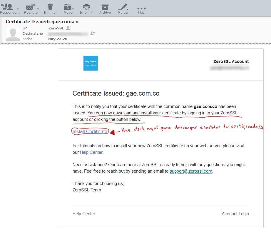 Tu Marketing Bogotá - Cómo obtener un certificado SSL gratis para tu hosting en GoDaddy 16.2