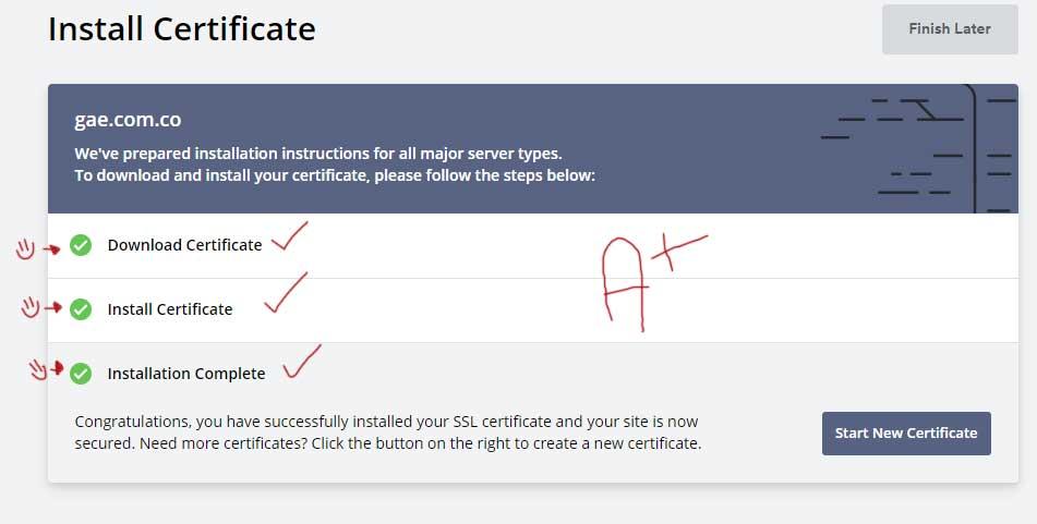 Tu Marketing Bogotá - Cómo obtener un certificado SSL gratis para tu hosting en GoDaddy 31.2