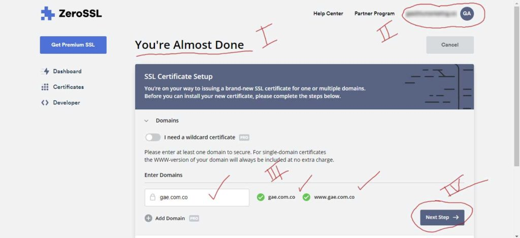 Tu Marketing Bogotá - Cómo obtener un certificado SSL gratis para tu hosting en GoDaddy 5