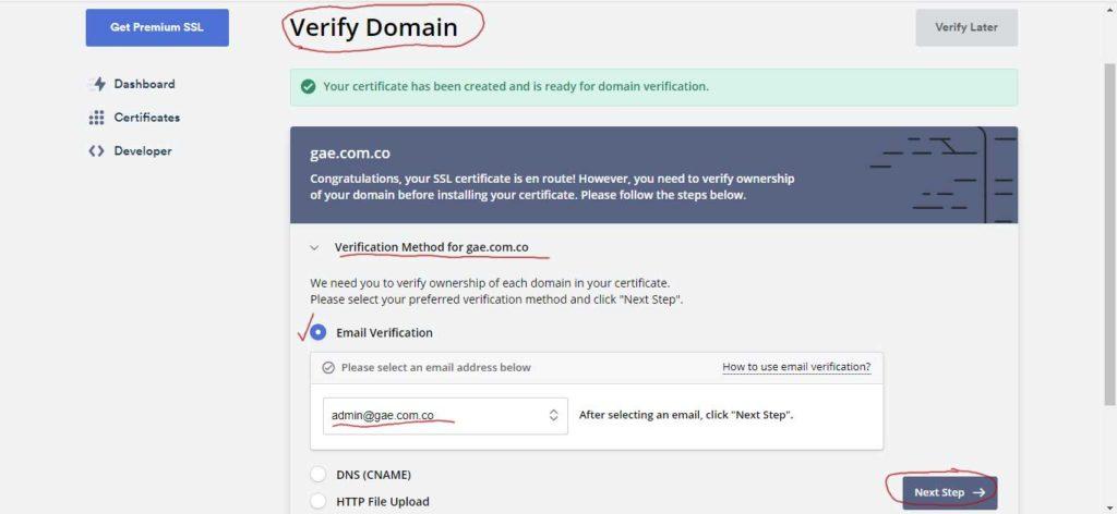Tu Marketing Bogotá - Cómo obtener un certificado SSL gratis para tu hosting en GoDaddy 9