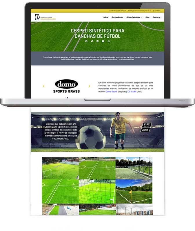 Tu Marketing Bogotá - Construcciones Deportivas Portfolio 2