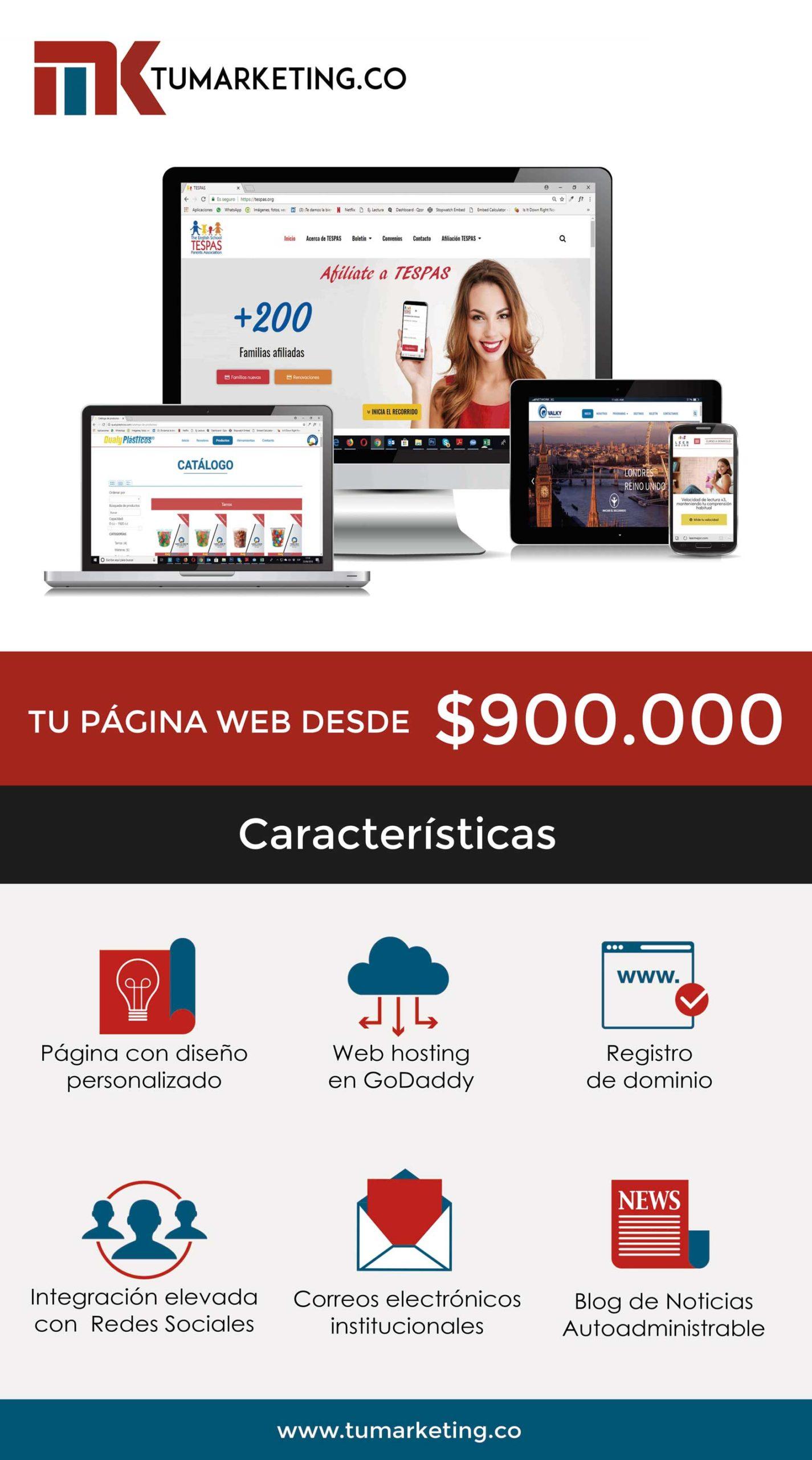 Tu Marketing Bogotá - Oferta general de páginas web