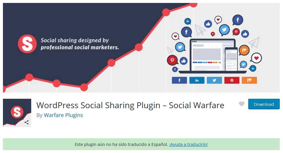 Tu Marketing Bogotá - Social Warfare plugin