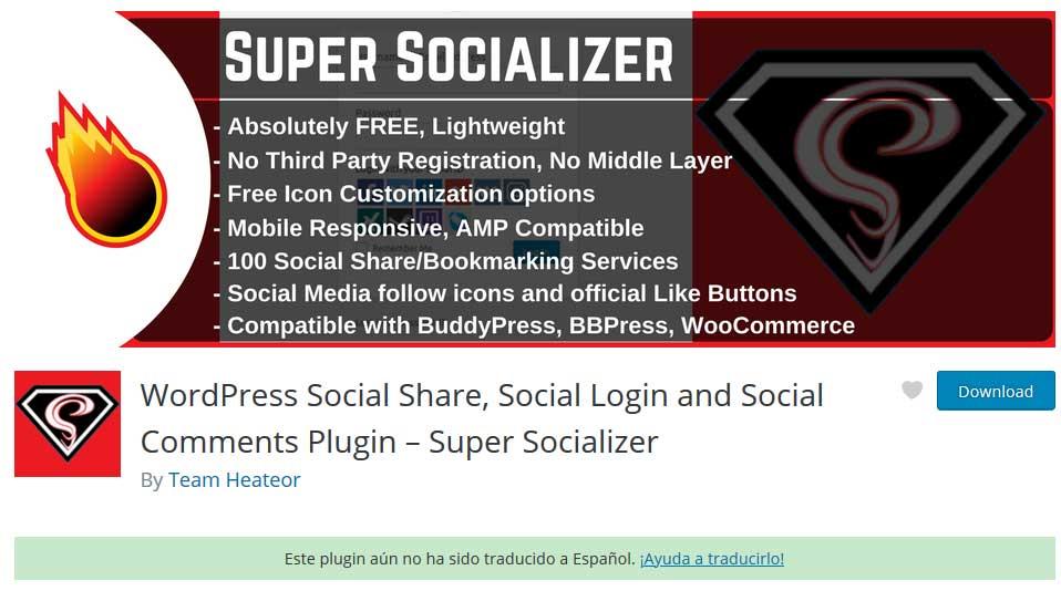Tu Marketing Bogotá - Super Socializer plugin