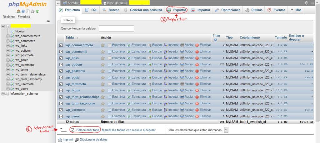 Tu Marketing Bogotá - phpMyAdmin cPanel 3-1